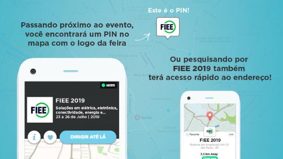 Digite FIEE 2019 no Waze e encontre o melhor caminho